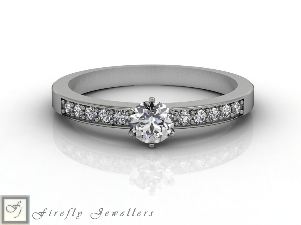 Classic diamond engagement ring - F53D