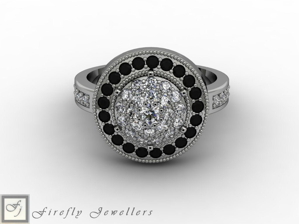 Diamond pave engagement ring - F55D