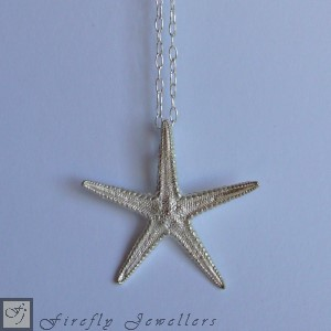 Silver starfish necklace - N13S