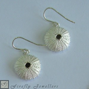 Silver urchin earrings E12P