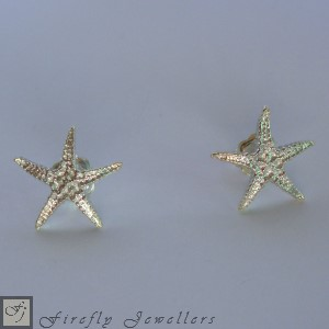 Sterling silver starfish earrings - E11S